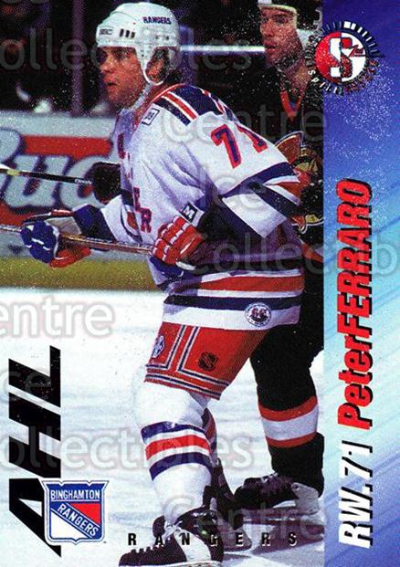 1995-96 Binghamton Rangers #6 Peter Ferraro<br/>7 In Stock - $3.00 each - <a href=https://centericecollectibles.foxycart.com/cart?name=1995-96%20Binghamton%20Rangers%20%236%20Peter%20Ferraro...&price=$3.00&code=37539 class=foxycart> Buy it now! </a>
