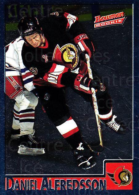 1995-96 Bowman Foil #110 Daniel Alfredsson<br/>7 In Stock - $3.00 each - <a href=https://centericecollectibles.foxycart.com/cart?name=1995-96%20Bowman%20Foil%20%23110%20Daniel%20Alfredss...&quantity_max=7&price=$3.00&code=37553 class=foxycart> Buy it now! </a>