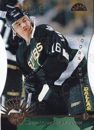 1996-97 Leaf Press Proof #225 Jamie Langenbrunner<br/>3 In Stock - $5.00 each - <a href=https://centericecollectibles.foxycart.com/cart?name=1996-97%20Leaf%20Press%20Proof%20%23225%20Jamie%20Langenbru...&quantity_max=3&price=$5.00&code=375738 class=foxycart> Buy it now! </a>