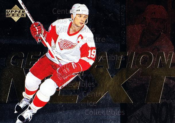 1996-97 Upper Deck Generation Next #13 Doug Weight, Steve Yzerman<br/>1 In Stock - $3.00 each - <a href=https://centericecollectibles.foxycart.com/cart?name=1996-97%20Upper%20Deck%20Generation%20Next%20%2313%20Doug%20Weight,%20St...&quantity_max=1&price=$3.00&code=375771 class=foxycart> Buy it now! </a>