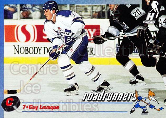 1992-93 Phoenix Roadrunners #13 Guy Leveque<br/>2 In Stock - $3.00 each - <a href=https://centericecollectibles.foxycart.com/cart?name=1992-93%20Phoenix%20Roadrunners%20%2313%20Guy%20Leveque...&quantity_max=2&price=$3.00&code=375854 class=foxycart> Buy it now! </a>