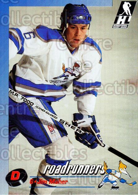 1992-93 Phoenix Roadrunners #14 Jim Maher<br/>2 In Stock - $3.00 each - <a href=https://centericecollectibles.foxycart.com/cart?name=1992-93%20Phoenix%20Roadrunners%20%2314%20Jim%20Maher...&quantity_max=2&price=$3.00&code=375855 class=foxycart> Buy it now! </a>