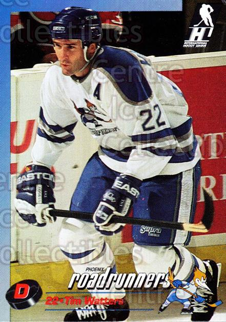 1992-93 Phoenix Roadrunners #25 Tim Watters<br/>1 In Stock - $3.00 each - <a href=https://centericecollectibles.foxycart.com/cart?name=1992-93%20Phoenix%20Roadrunners%20%2325%20Tim%20Watters...&quantity_max=1&price=$3.00&code=375866 class=foxycart> Buy it now! </a>