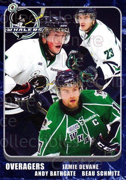 2011-12 Plymouth Whalers #31 Jamie Devane, Andy Bathgate, Beau Schmitz<br/>3 In Stock - $3.00 each - <a href=https://centericecollectibles.foxycart.com/cart?name=2011-12%20Plymouth%20Whalers%20%2331%20Jamie%20Devane,%20A...&quantity_max=3&price=$3.00&code=375900 class=foxycart> Buy it now! </a>