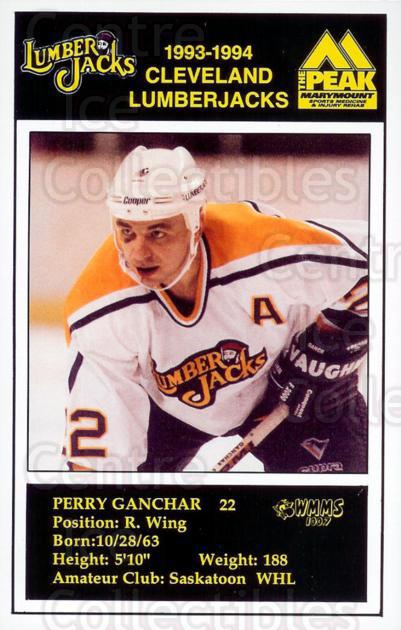 1993-94 Cleveland Lumberjacks Postcards #11 Perry Ganchar<br/>1 In Stock - $3.00 each - <a href=https://centericecollectibles.foxycart.com/cart?name=1993-94%20Cleveland%20Lumberjacks%20Postcards%20%2311%20Perry%20Ganchar...&quantity_max=1&price=$3.00&code=375918 class=foxycart> Buy it now! </a>