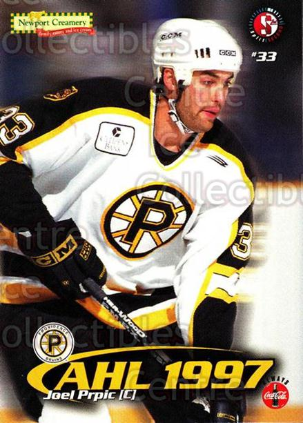 1997-98 Providence Bruins #14 Joel Prpic<br/>9 In Stock - $3.00 each - <a href=https://centericecollectibles.foxycart.com/cart?name=1997-98%20Providence%20Bruins%20%2314%20Joel%20Prpic...&price=$3.00&code=376209 class=foxycart> Buy it now! </a>