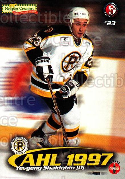 1997-98 Providence Bruins #20 Yevgeny Shaldybin<br/>6 In Stock - $3.00 each - <a href=https://centericecollectibles.foxycart.com/cart?name=1997-98%20Providence%20Bruins%20%2320%20Yevgeny%20Shaldyb...&price=$3.00&code=376210 class=foxycart> Buy it now! </a>