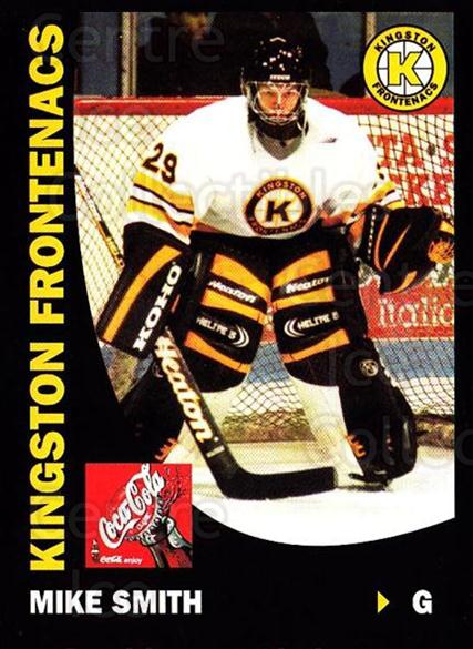 1999-00 Kingston Frontenacs #19 Mike Smith<br/>5 In Stock - $5.00 each - <a href=https://centericecollectibles.foxycart.com/cart?name=1999-00%20Kingston%20Frontenacs%20%2319%20Mike%20Smith...&quantity_max=5&price=$5.00&code=376211 class=foxycart> Buy it now! </a>