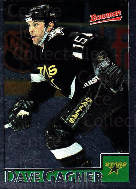 1995-96 Bowman Foil #33 Dave Gagner<br/>7 In Stock - $2.00 each - <a href=https://centericecollectibles.foxycart.com/cart?name=1995-96%20Bowman%20Foil%20%2333%20Dave%20Gagner...&quantity_max=7&price=$2.00&code=37622 class=foxycart> Buy it now! </a>