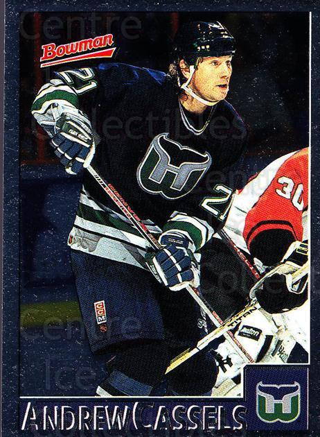 1995-96 Bowman Foil #4 Andrew Cassels<br/>7 In Stock - $2.00 each - <a href=https://centericecollectibles.foxycart.com/cart?name=1995-96%20Bowman%20Foil%20%234%20Andrew%20Cassels...&quantity_max=7&price=$2.00&code=37629 class=foxycart> Buy it now! </a>