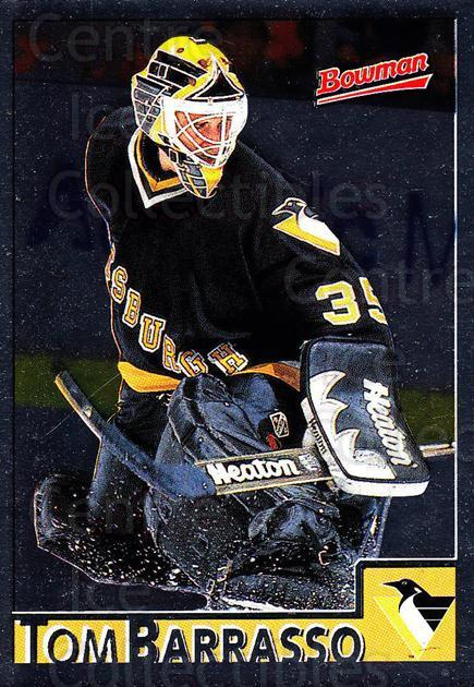 1995-96 Bowman Foil #47 Tom Barrasso<br/>6 In Stock - $2.00 each - <a href=https://centericecollectibles.foxycart.com/cart?name=1995-96%20Bowman%20Foil%20%2347%20Tom%20Barrasso...&price=$2.00&code=37634 class=foxycart> Buy it now! </a>