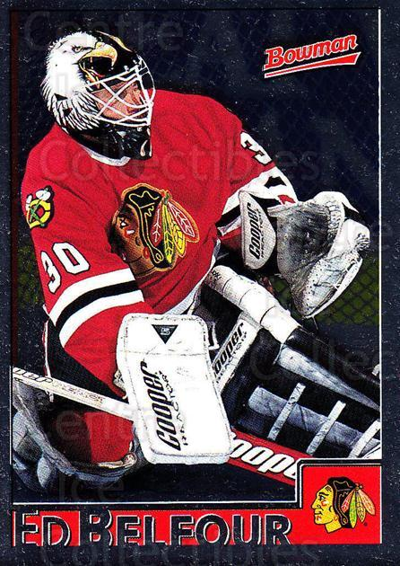 1995-96 Bowman Foil #53 Ed Belfour<br/>5 In Stock - $2.00 each - <a href=https://centericecollectibles.foxycart.com/cart?name=1995-96%20Bowman%20Foil%20%2353%20Ed%20Belfour...&price=$2.00&code=37641 class=foxycart> Buy it now! </a>