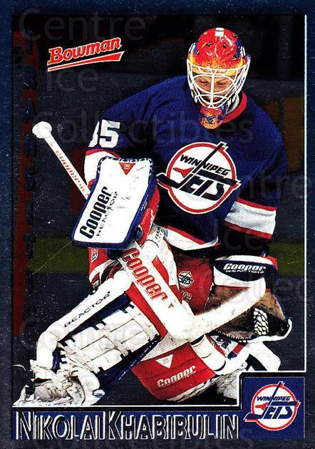 1995-96 Bowman Foil #89 Nikolai Khabibulin<br/>6 In Stock - $2.00 each - <a href=https://centericecollectibles.foxycart.com/cart?name=1995-96%20Bowman%20Foil%20%2389%20Nikolai%20Khabibu...&quantity_max=6&price=$2.00&code=37670 class=foxycart> Buy it now! </a>