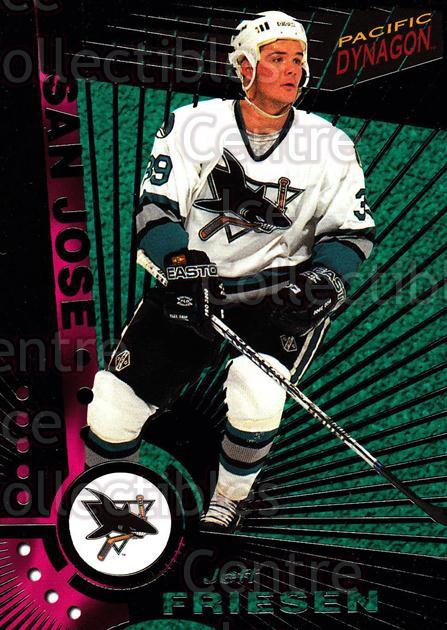 1997-98 Dynagon Dark Grey #110 Jeff Friesen<br/>6 In Stock - $3.00 each - <a href=https://centericecollectibles.foxycart.com/cart?name=1997-98%20Dynagon%20Dark%20Grey%20%23110%20Jeff%20Friesen...&quantity_max=6&price=$3.00&code=376719 class=foxycart> Buy it now! </a>