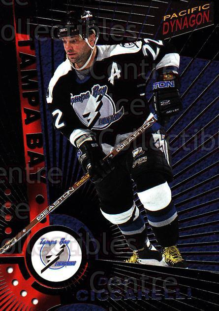 1997-98 Dynagon Dark Grey #115 Dino Ciccarelli<br/>6 In Stock - $3.00 each - <a href=https://centericecollectibles.foxycart.com/cart?name=1997-98%20Dynagon%20Dark%20Grey%20%23115%20Dino%20Ciccarelli...&quantity_max=6&price=$3.00&code=376724 class=foxycart> Buy it now! </a>