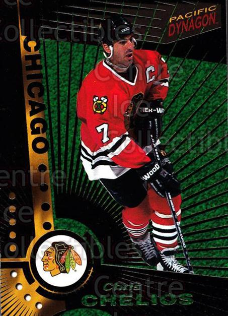 1997-98 Dynagon Dark Grey #25 Chris Chelios<br/>5 In Stock - $3.00 each - <a href=https://centericecollectibles.foxycart.com/cart?name=1997-98%20Dynagon%20Dark%20Grey%20%2325%20Chris%20Chelios...&quantity_max=5&price=$3.00&code=376763 class=foxycart> Buy it now! </a>