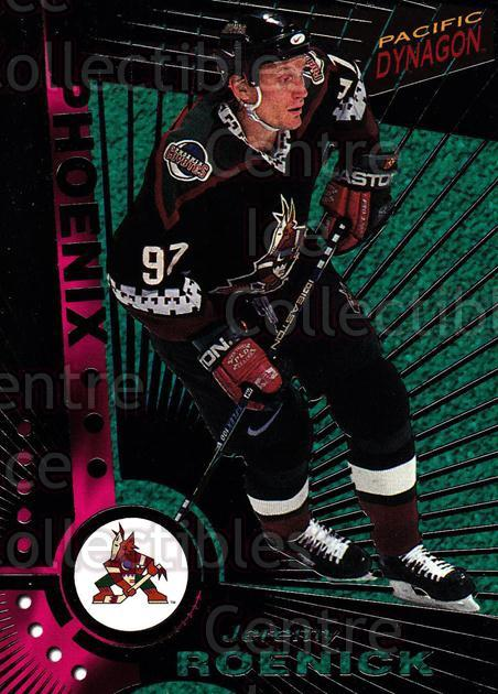 1997-98 Dynagon Dark Grey #97 Jeremy Roenick<br/>5 In Stock - $5.00 each - <a href=https://centericecollectibles.foxycart.com/cart?name=1997-98%20Dynagon%20Dark%20Grey%20%2397%20Jeremy%20Roenick...&quantity_max=5&price=$5.00&code=376832 class=foxycart> Buy it now! </a>