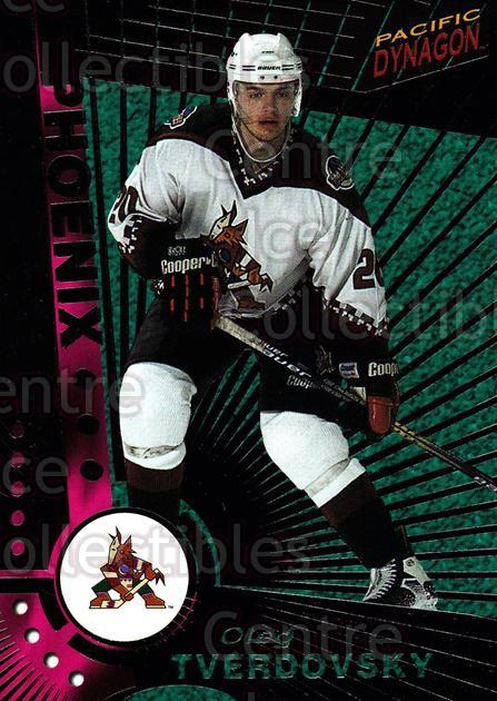 1997-98 Dynagon Dark Grey #99 Oleg Tverdovsky<br/>6 In Stock - $3.00 each - <a href=https://centericecollectibles.foxycart.com/cart?name=1997-98%20Dynagon%20Dark%20Grey%20%2399%20Oleg%20Tverdovsky...&quantity_max=6&price=$3.00&code=376834 class=foxycart> Buy it now! </a>