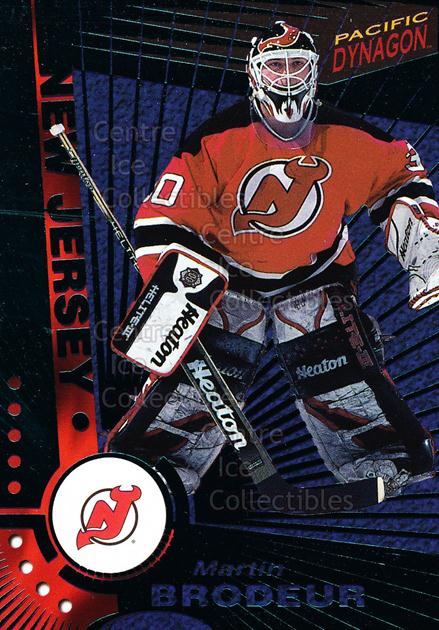 1997-98 Pacific Dynagon Emerald #68 Martin Brodeur<br/>2 In Stock - $10.00 each - <a href=https://centericecollectibles.foxycart.com/cart?name=1997-98%20Pacific%20Dynagon%20Emerald%20%2368%20Martin%20Brodeur...&price=$10.00&code=376855 class=foxycart> Buy it now! </a>