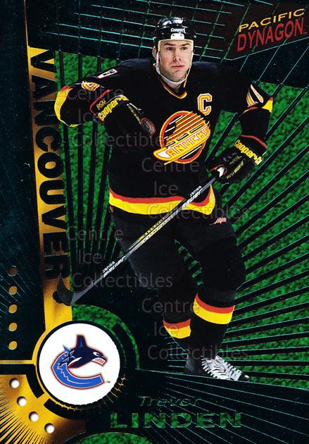 1997-98 Dynagon Emerald #127 Trevor Linden<br/>13 In Stock - $3.00 each - <a href=https://centericecollectibles.foxycart.com/cart?name=1997-98%20Dynagon%20Emerald%20%23127%20Trevor%20Linden...&quantity_max=13&price=$3.00&code=376891 class=foxycart> Buy it now! </a>