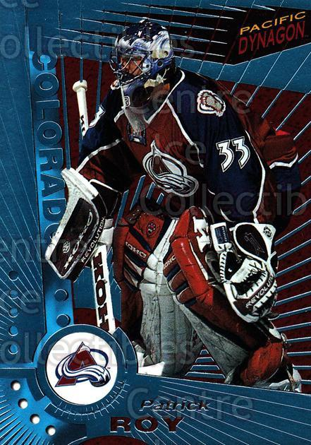 1997-98 Pacific Dynagon Ice Blue #33 Patrick Roy<br/>1 In Stock - $30.00 each - <a href=https://centericecollectibles.foxycart.com/cart?name=1997-98%20Pacific%20Dynagon%20Ice%20Blue%20%2333%20Patrick%20Roy...&price=$30.00&code=377004 class=foxycart> Buy it now! </a>