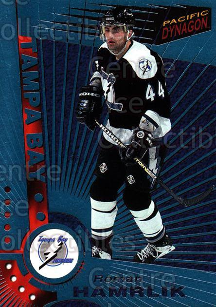 1997-98 Dynagon Ice Blue #118 Roman Hamrlik<br/>8 In Stock - $3.00 each - <a href=https://centericecollectibles.foxycart.com/cart?name=1997-98%20Dynagon%20Ice%20Blue%20%23118%20Roman%20Hamrlik...&quantity_max=8&price=$3.00&code=377037 class=foxycart> Buy it now! </a>