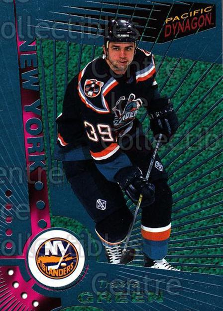 1997-98 Dynagon Ice Blue #73 Travis Green<br/>7 In Stock - $3.00 each - <a href=https://centericecollectibles.foxycart.com/cart?name=1997-98%20Dynagon%20Ice%20Blue%20%2373%20Travis%20Green...&quantity_max=7&price=$3.00&code=377117 class=foxycart> Buy it now! </a>