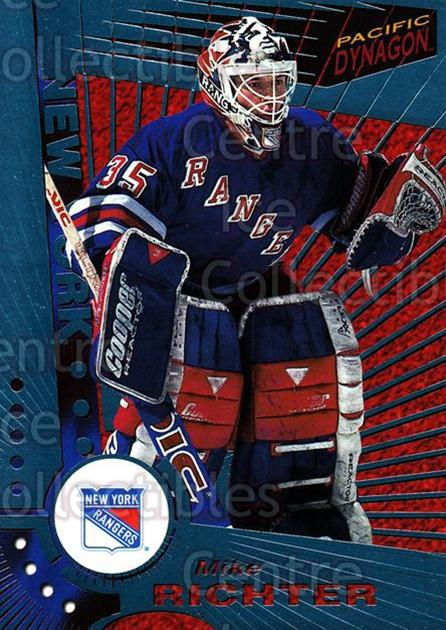 1997-98 Dynagon Ice Blue #82 Mike Richter<br/>9 In Stock - $3.00 each - <a href=https://centericecollectibles.foxycart.com/cart?name=1997-98%20Dynagon%20Ice%20Blue%20%2382%20Mike%20Richter...&quantity_max=9&price=$3.00&code=377126 class=foxycart> Buy it now! </a>