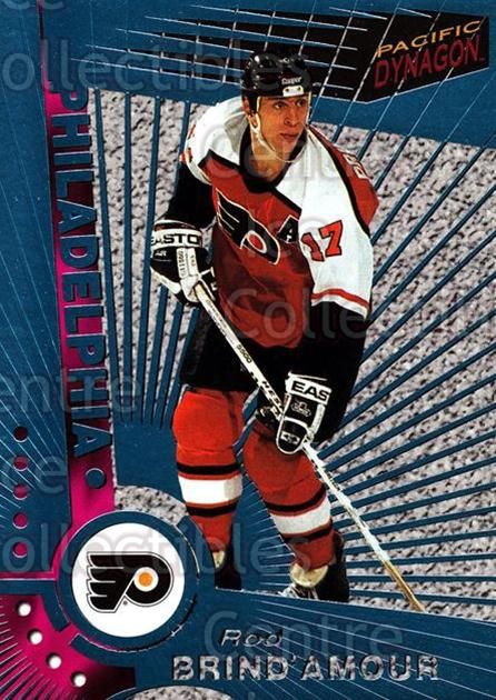 1997-98 Dynagon Ice Blue #88 Rod Brind'Amour<br/>7 In Stock - $3.00 each - <a href=https://centericecollectibles.foxycart.com/cart?name=1997-98%20Dynagon%20Ice%20Blue%20%2388%20Rod%20Brind'Amour...&quantity_max=7&price=$3.00&code=377132 class=foxycart> Buy it now! </a>