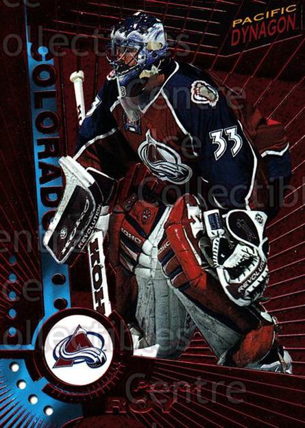 1997-98 Pacific Dynagon Red #33 Patrick Roy<br/>2 In Stock - $25.00 each - <a href=https://centericecollectibles.foxycart.com/cart?name=1997-98%20Pacific%20Dynagon%20Red%20%2333%20Patrick%20Roy...&price=$25.00&code=377159 class=foxycart> Buy it now! </a>