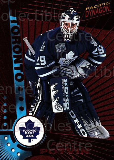 1997-98 Dynagon Red #122 Felix Potvin<br/>1 In Stock - $5.00 each - <a href=https://centericecollectibles.foxycart.com/cart?name=1997-98%20Dynagon%20Red%20%23122%20Felix%20Potvin...&quantity_max=1&price=$5.00&code=377197 class=foxycart> Buy it now! </a>