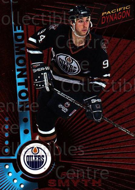 1997-98 Dynagon Red #51 Ryan Smyth<br/>10 In Stock - $3.00 each - <a href=https://centericecollectibles.foxycart.com/cart?name=1997-98%20Dynagon%20Red%20%2351%20Ryan%20Smyth...&quantity_max=10&price=$3.00&code=377249 class=foxycart> Buy it now! </a>