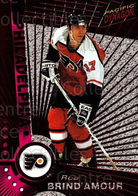 1997-98 Dynagon Red #88 Rod Brind'Amour<br/>9 In Stock - $3.00 each - <a href=https://centericecollectibles.foxycart.com/cart?name=1997-98%20Dynagon%20Red%20%2388%20Rod%20Brind'Amour...&quantity_max=9&price=$3.00&code=377287 class=foxycart> Buy it now! </a>