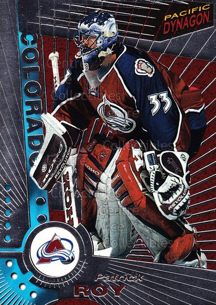 1997-98 Dynagon Silver #33 Patrick Roy<br/>5 In Stock - $10.00 each - <a href=https://centericecollectibles.foxycart.com/cart?name=1997-98%20Dynagon%20Silver%20%2333%20Patrick%20Roy...&quantity_max=5&price=$10.00&code=377314 class=foxycart> Buy it now! </a>