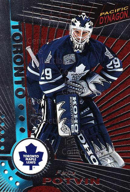 1997-98 Dynagon Silver #122 Felix Potvin<br/>6 In Stock - $5.00 each - <a href=https://centericecollectibles.foxycart.com/cart?name=1997-98%20Dynagon%20Silver%20%23122%20Felix%20Potvin...&quantity_max=6&price=$5.00&code=377352 class=foxycart> Buy it now! </a>