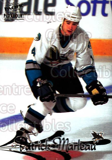 1997-98 Paramount Dark Grey #167 Patrick Marleau<br/>2 In Stock - $2.00 each - <a href=https://centericecollectibles.foxycart.com/cart?name=1997-98%20Paramount%20Dark%20Grey%20%23167%20Patrick%20Marleau...&quantity_max=2&price=$2.00&code=377633 class=foxycart> Buy it now! </a>