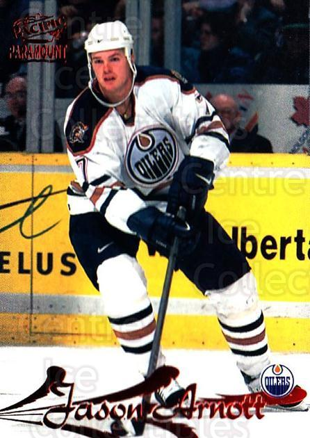 1997-98 Paramount Copper #72 Jason Arnott<br/>3 In Stock - $2.00 each - <a href=https://centericecollectibles.foxycart.com/cart?name=1997-98%20Paramount%20Copper%20%2372%20Jason%20Arnott...&quantity_max=3&price=$2.00&code=377722 class=foxycart> Buy it now! </a>