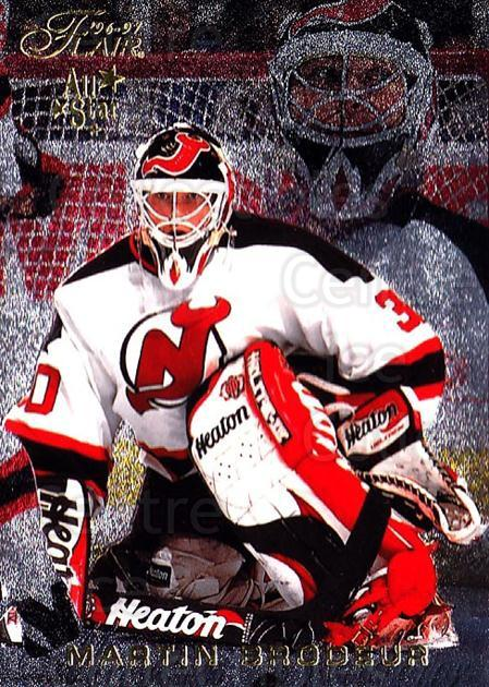 1996-97 Flair #52 Martin Brodeur<br/>1 In Stock - $3.00 each - <a href=https://centericecollectibles.foxycart.com/cart?name=1996-97%20Flair%20%2352%20Martin%20Brodeur...&quantity_max=1&price=$3.00&code=378123 class=foxycart> Buy it now! </a>