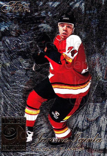 1996-97 Flair #103 Jarome Iginla<br/>3 In Stock - $3.00 each - <a href=https://centericecollectibles.foxycart.com/cart?name=1996-97%20Flair%20%23103%20Jarome%20Iginla...&quantity_max=3&price=$3.00&code=378129 class=foxycart> Buy it now! </a>