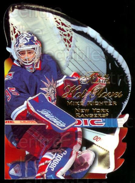 1996-97 Flair Hot Gloves #9 Mike Richter<br/>4 In Stock - $5.00 each - <a href=https://centericecollectibles.foxycart.com/cart?name=1996-97%20Flair%20Hot%20Gloves%20%239%20Mike%20Richter...&quantity_max=4&price=$5.00&code=378279 class=foxycart> Buy it now! </a>