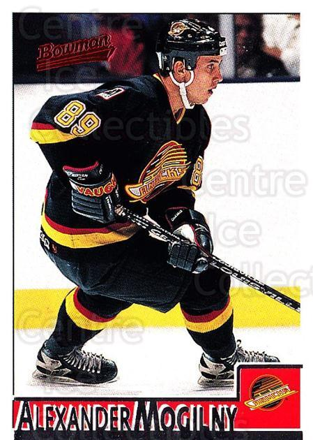 1995-96 Bowman #5 Alexander Mogilny<br/>4 In Stock - $1.00 each - <a href=https://centericecollectibles.foxycart.com/cart?name=1995-96%20Bowman%20%235%20Alexander%20Mogil...&quantity_max=4&price=$1.00&code=37841 class=foxycart> Buy it now! </a>