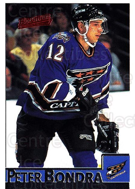 1995-96 Bowman #55 Peter Bondra<br/>5 In Stock - $1.00 each - <a href=https://centericecollectibles.foxycart.com/cart?name=1995-96%20Bowman%20%2355%20Peter%20Bondra...&quantity_max=5&price=$1.00&code=37847 class=foxycart> Buy it now! </a>