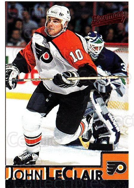 1995-96 Bowman #63 John LeClair<br/>4 In Stock - $1.00 each - <a href=https://centericecollectibles.foxycart.com/cart?name=1995-96%20Bowman%20%2363%20John%20LeClair...&quantity_max=4&price=$1.00&code=37856 class=foxycart> Buy it now! </a>