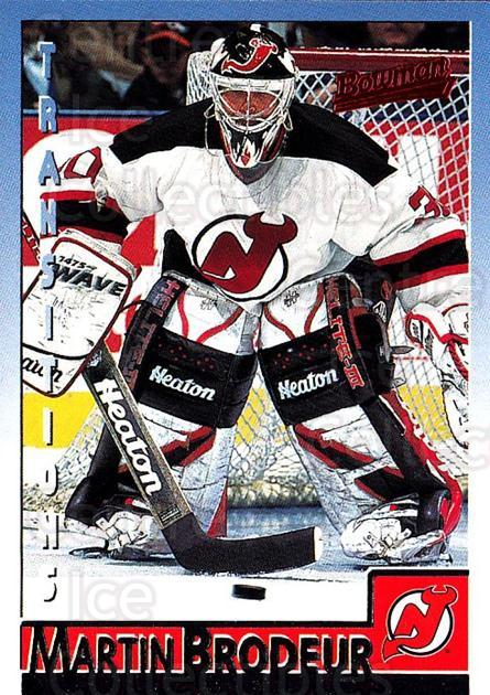 1995-96 Bowman #70 Martin Brodeur<br/>4 In Stock - $2.00 each - <a href=https://centericecollectibles.foxycart.com/cart?name=1995-96%20Bowman%20%2370%20Martin%20Brodeur...&price=$2.00&code=37864 class=foxycart> Buy it now! </a>