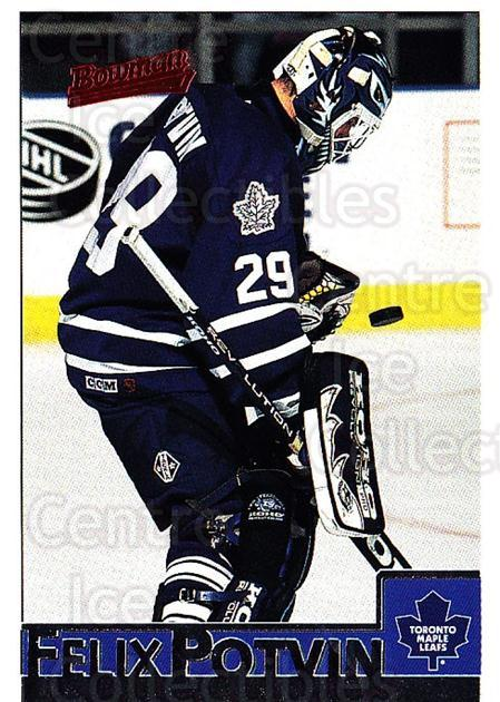 1995-96 Bowman #79 Felix Potvin<br/>4 In Stock - $1.00 each - <a href=https://centericecollectibles.foxycart.com/cart?name=1995-96%20Bowman%20%2379%20Felix%20Potvin...&quantity_max=4&price=$1.00&code=37873 class=foxycart> Buy it now! </a>