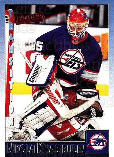 1995-96 Bowman #89 Nikolai Khabibulin<br/>3 In Stock - $1.00 each - <a href=https://centericecollectibles.foxycart.com/cart?name=1995-96%20Bowman%20%2389%20Nikolai%20Khabibu...&quantity_max=3&price=$1.00&code=37884 class=foxycart> Buy it now! </a>