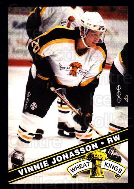 1995-96 Brandon Wheat Kings #16 Vincent Jonasson<br/>3 In Stock - $3.00 each - <a href=https://centericecollectibles.foxycart.com/cart?name=1995-96%20Brandon%20Wheat%20Kings%20%2316%20Vincent%20Jonasso...&quantity_max=3&price=$3.00&code=37894 class=foxycart> Buy it now! </a>