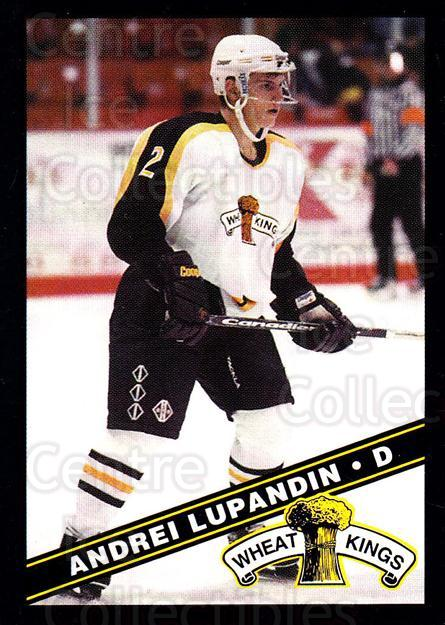 1995-96 Brandon Wheat Kings #1 Andrei Lupandin<br/>3 In Stock - $3.00 each - <a href=https://centericecollectibles.foxycart.com/cart?name=1995-96%20Brandon%20Wheat%20Kings%20%231%20Andrei%20Lupandin...&quantity_max=3&price=$3.00&code=37897 class=foxycart> Buy it now! </a>