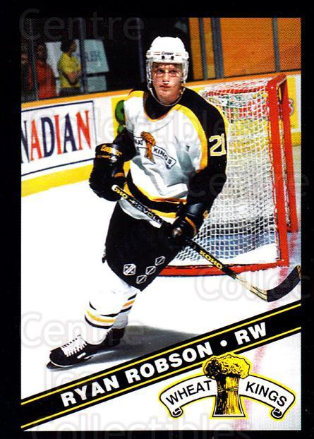 1995-96 Brandon Wheat Kings #17 Ryan Robson<br/>1 In Stock - $3.00 each - <a href=https://centericecollectibles.foxycart.com/cart?name=1995-96%20Brandon%20Wheat%20Kings%20%2317%20Ryan%20Robson...&quantity_max=1&price=$3.00&code=37899 class=foxycart> Buy it now! </a>