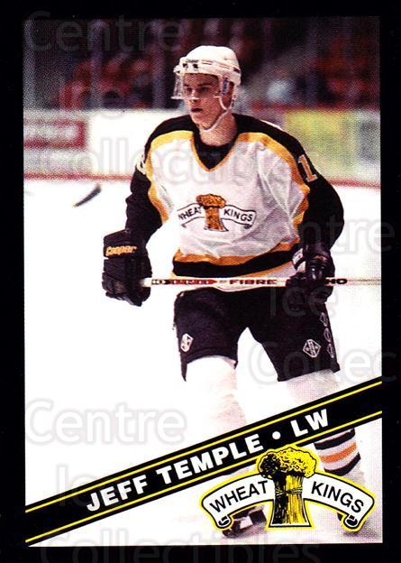 1995-96 Brandon Wheat Kings #12 Jeff Temple<br/>2 In Stock - $3.00 each - <a href=https://centericecollectibles.foxycart.com/cart?name=1995-96%20Brandon%20Wheat%20Kings%20%2312%20Jeff%20Temple...&quantity_max=2&price=$3.00&code=37903 class=foxycart> Buy it now! </a>